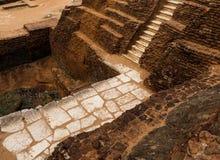 Alter Felsen Sigiriya in Sri Lanka stockfotos