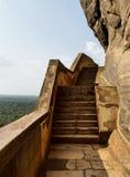 Alter Felsen Sigiriya in Sri Lanka lizenzfreie stockfotografie