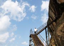Alter Felsen Sigiriya in Sri Lanka lizenzfreies stockfoto