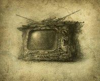 Alter Fernsehapparat Stockfoto