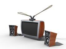 Alter Fernsehapparat. Stockbild