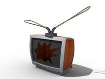 Alter Fernsehapparat. Stockfotos