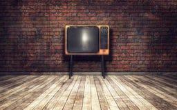 Alter Fernsehapparat im Raum Stockfotografie