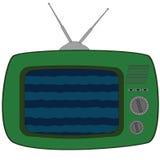 Alter Fernsehapparat Raster #1 #1 Stockfotografie