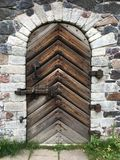 Alter Festungs-Eingang - verschlossen und sicher stockfoto