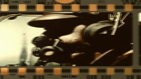 Alter Film vom Zweiten Weltkrieg stock footage