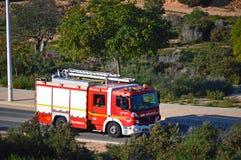 Alter Firetruck am Erscheinen Lizenzfreies Stockfoto