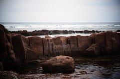 Alter flüssiger Lavafluss Stockfotografie