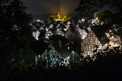 Alter flecken freudenberg germany at night Stock Image