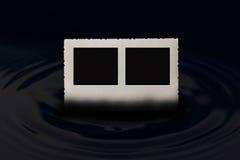 Alter Fotorahmen mit zwei schwarzen Rechtecken Lizenzfreie Stockbilder