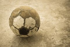 Alter Fußball Lizenzfreie Stockbilder