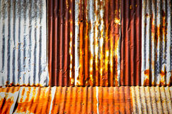 Alter galvanisierter Stahl Stockbild