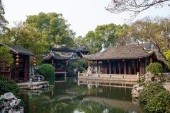Alter Garten in Tongli von Suzhou Lizenzfreies Stockfoto