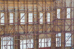 Alter Gebäudewiederherstellungaufbau stockbild