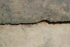 Alter gebrochener Zementboden-Beschaffenheitshintergrund Lizenzfreie Stockbilder
