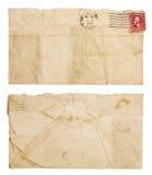Alter, geknitterter Umschlag Stockfotografie