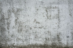 Alter gemalter Beton mit Abziehbild Stockfotografie