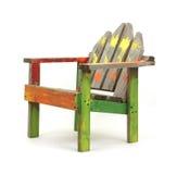 Alter gemalter Rasenstuhl des Kindes lizenzfreies stockfoto