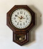 Alter Gemischtwarenladen und Uhr bei Appomattox Lizenzfreie Stockfotografie