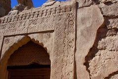 Alter geschnitzter Eingang von Oman Lizenzfreie Stockbilder