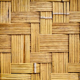 Alter gesponnener Bambusbeschaffenheitshintergrund Stockfoto
