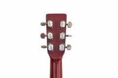 Alter Gitarrenspindelkasten lokalisiert auf Weiß Lizenzfreie Stockfotografie