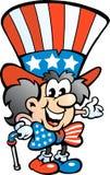 Alter glücklicher Uncle Sam Stockbild