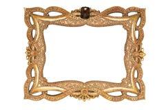 Alter goldener Rahmen Stockbilder