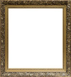 Alter goldener Rahmen mit Verzierung für das Malen Lizenzfreies Stockfoto