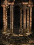 Alter gotischer Brunnen Stockbild