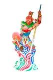 Alter Gott des traditionellen Chinesen lokalisiert im Weiß Stockbild