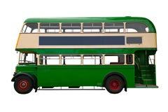Alter grüner Bus des doppelten Deckers Lizenzfreie Stockfotos