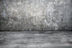 Alter grauer konkreter Raum für Hintergrund Lizenzfreies Stockbild
