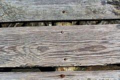 Alter Gray Wood Planks mit Beschaffenheit Stockfotos