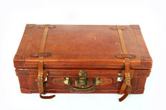 Alter großer brauner Koffer Lizenzfreies Stockbild