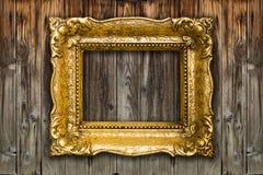 Alter großer Retro- Goldbilderrahmen Lizenzfreies Stockbild