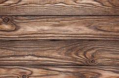 Alter hölzerner brauner Hintergrund von vier Brettern Stockfotografie