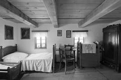 Alter hölzerner Haus-Innenraum Lizenzfreies Stockbild