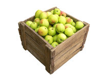 Alter hölzerner Kasten voll Äpfel Lizenzfreie Stockfotografie