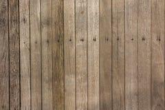 Alter hölzerner Plankenhintergrund, Holz deckt Hintergrund, hölzerne Beschaffenheit mit Ziegeln Stockfotografie