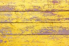 Alter hölzerner schäbiger gelber Hintergrund oder Beschaffenheit Stockfotos