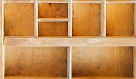 Alter hölzerner Schaukasten Stockbilder