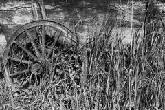 Alter hölzerner Wagen Stockfoto