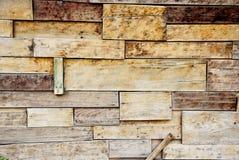 Alter hölzerner Wandbeschaffenheitshintergrund Stockfotografie