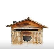 Alter hölzernes Haus Postbox getrennt Stockfotos