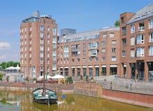 Alter Hafen, alte Stadt, Duesseldorf, Deutschland Lizenzfreie Stockfotos