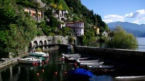 Alter Hafen Cannero Riviera auf Lago Maggiore stock footage
