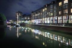 Alter Hafen. DUSSELDORF, GERMANY - CIRCA SEPTEMBER, 2016: Alter Hafen in Dusseldorf town in Germany by night Royalty Free Stock Photography