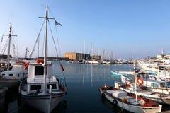 Alter Hafen Heraklion, Kreta Lizenzfreies Stockfoto