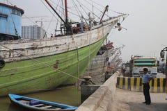 Alter Hafen in JAKARTA von der Kolonialzeit Stockfoto